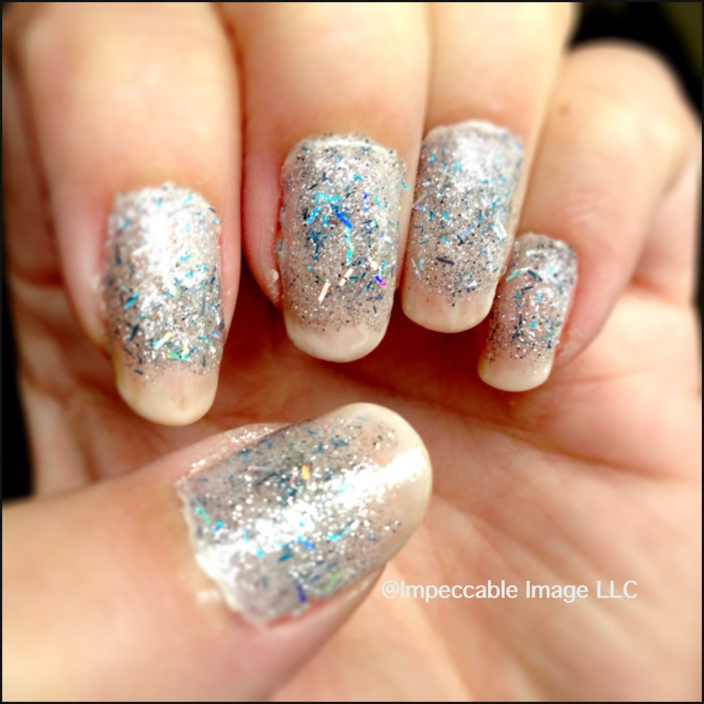 image of ice and snow manicure