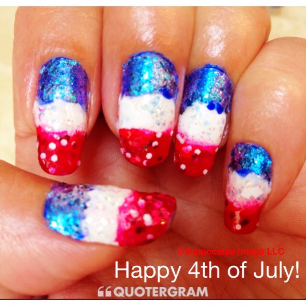 4th of July Patriotic Manicure -